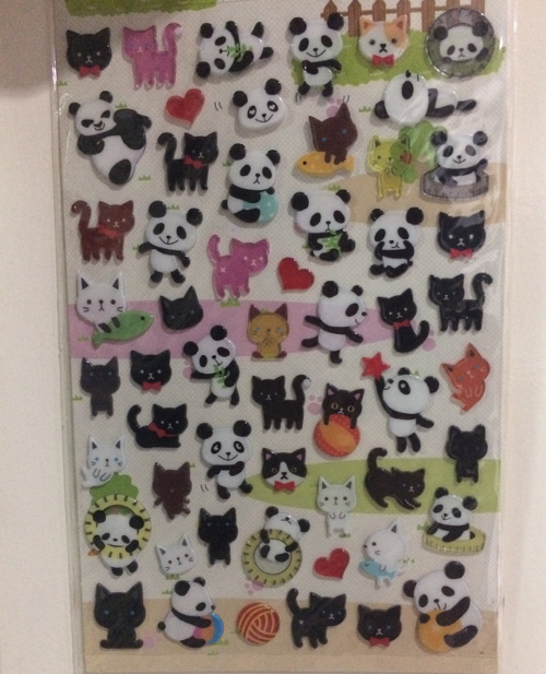 Panda and Cat Sticker image